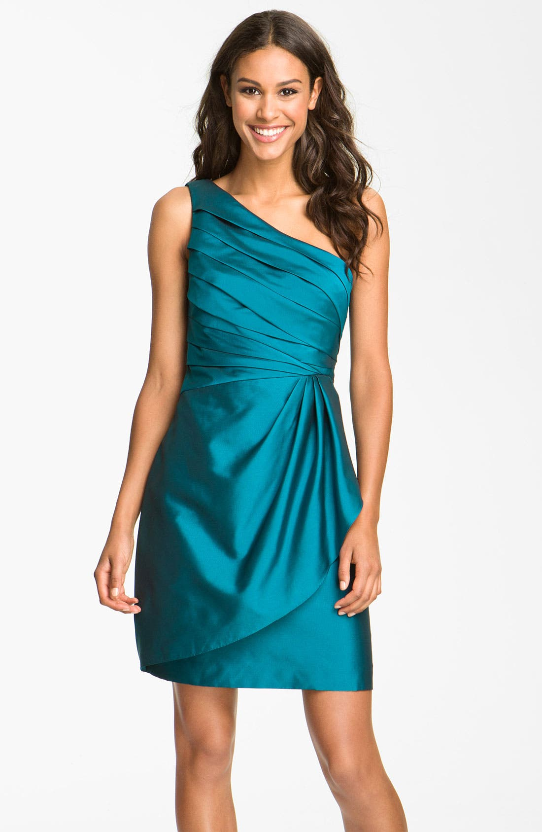 Alternate Image 1 Selected - Eliza J One Shoulder Taffeta Dress