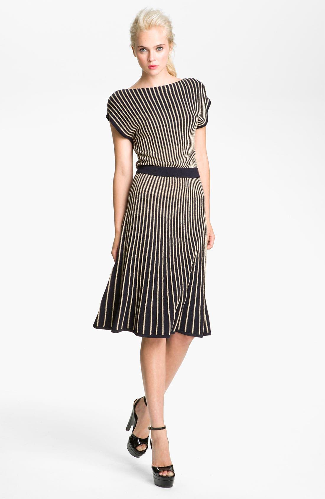 'Paulina' Sweater Dress,                             Main thumbnail 1, color,                             Darkest Teal Multi