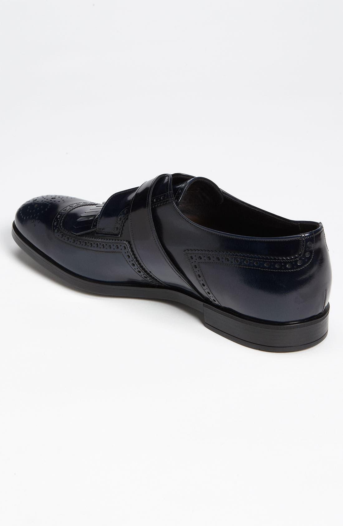 Alternate Image 2  - Prada Brogue Kiltie Monk Strap Shoe