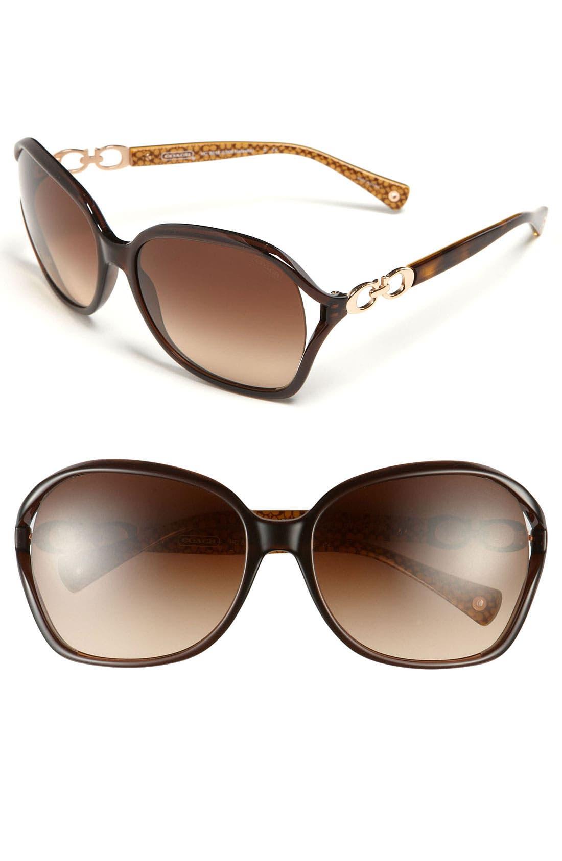 Alternate Image 1 Selected - COACH Oversized Sunglasses