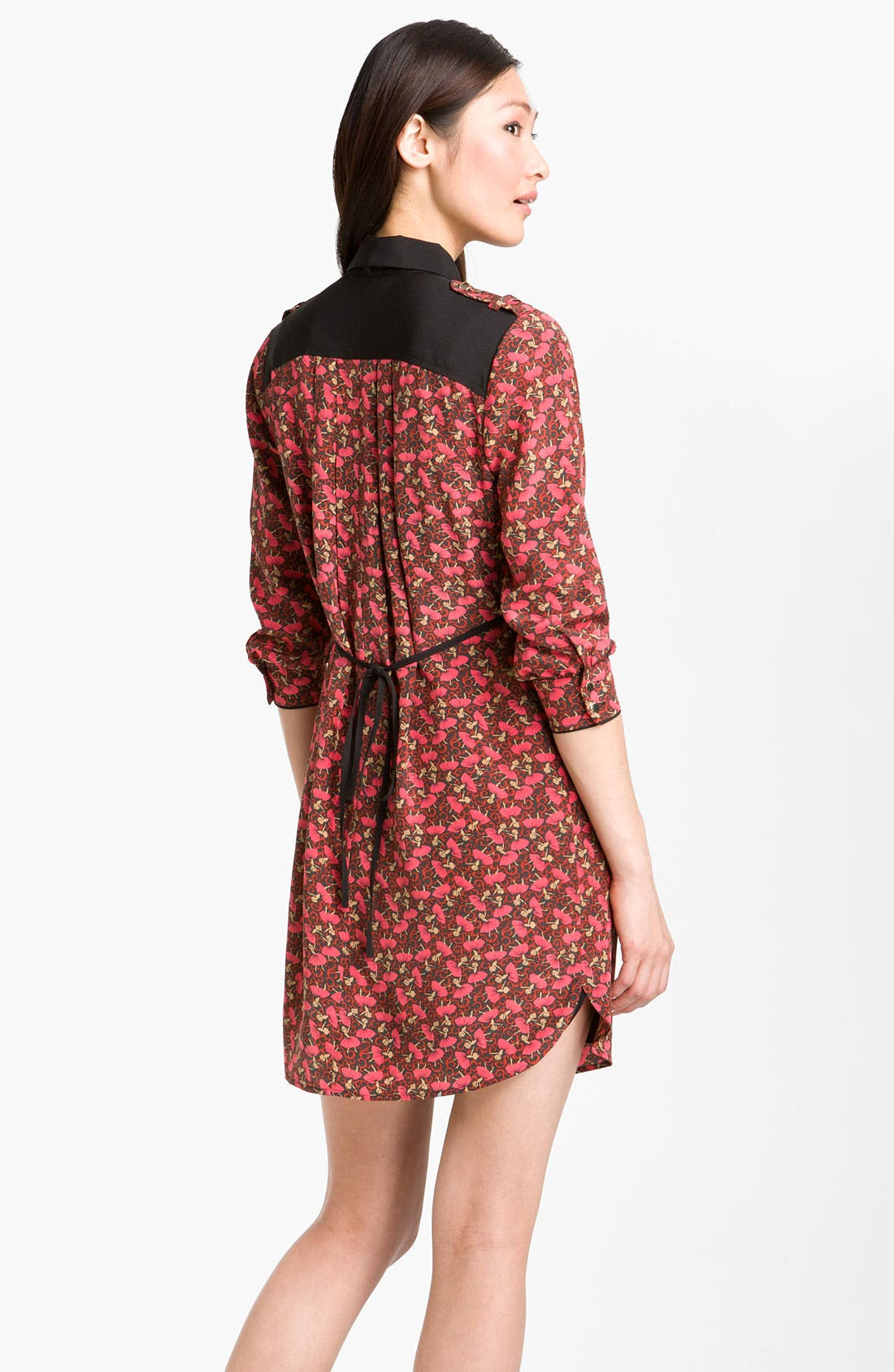 Alternate Image 2  - Ted Baker London 'Dancers' Ditsy Print Silk Shirtdress
