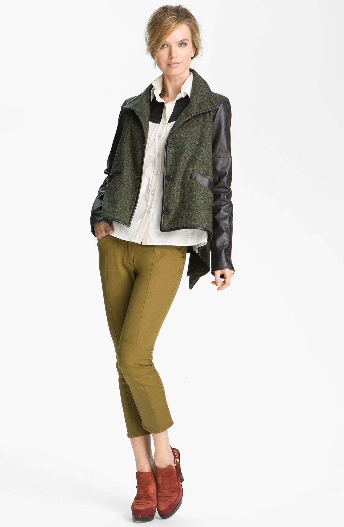 Alternate Image 4  - Derek Lam 10 Crosby Leather Sleeve Jacket