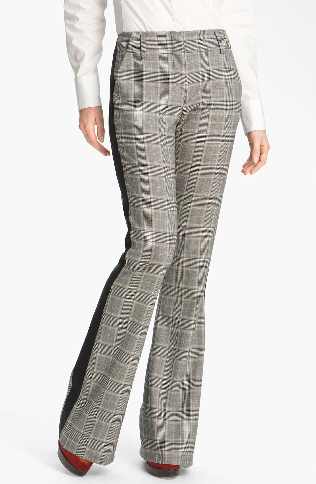 Alternate Image 1 Selected - Derek Lam 10 Crosby Tuxedo Stripe Bootcut Pants