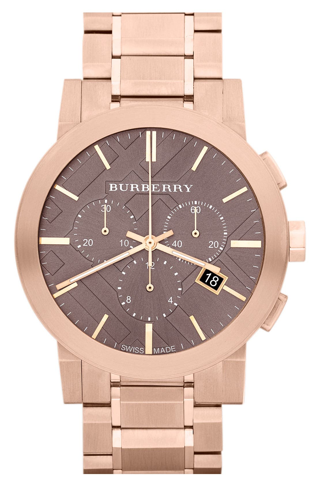 Alternate Image 1 Selected - Burberry Large Chronograph Bracelet Watch, 42mm (Regular Retail Price: $895.00)