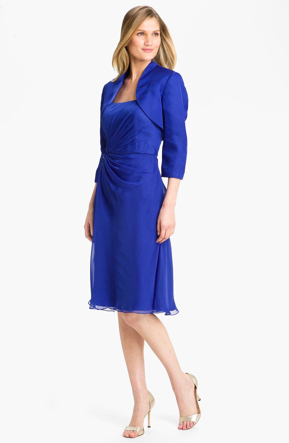 Alternate Image 1 Selected - Veni Infantino Ruched Chiffon Dress & Bolero