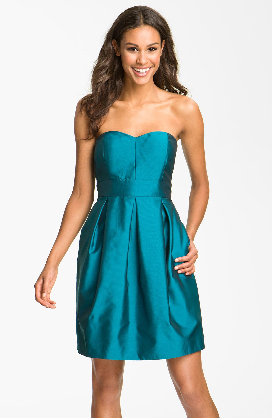 Main Image - Eliza J Sweetheart Taffeta Dress