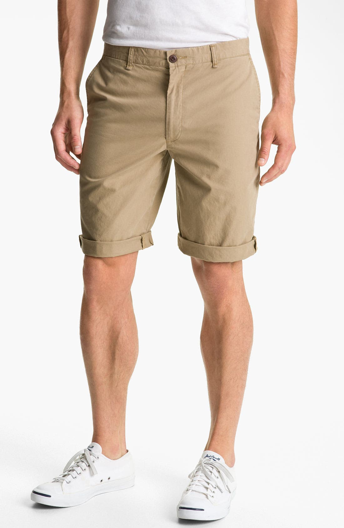 Alternate Image 1 Selected - Dockers® Flat Front Shorts