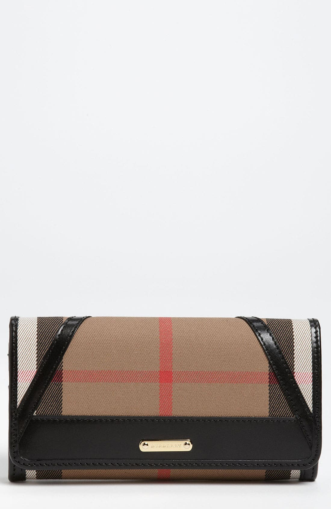 Main Image - Burberry 'House Check' Checkbook Wallet