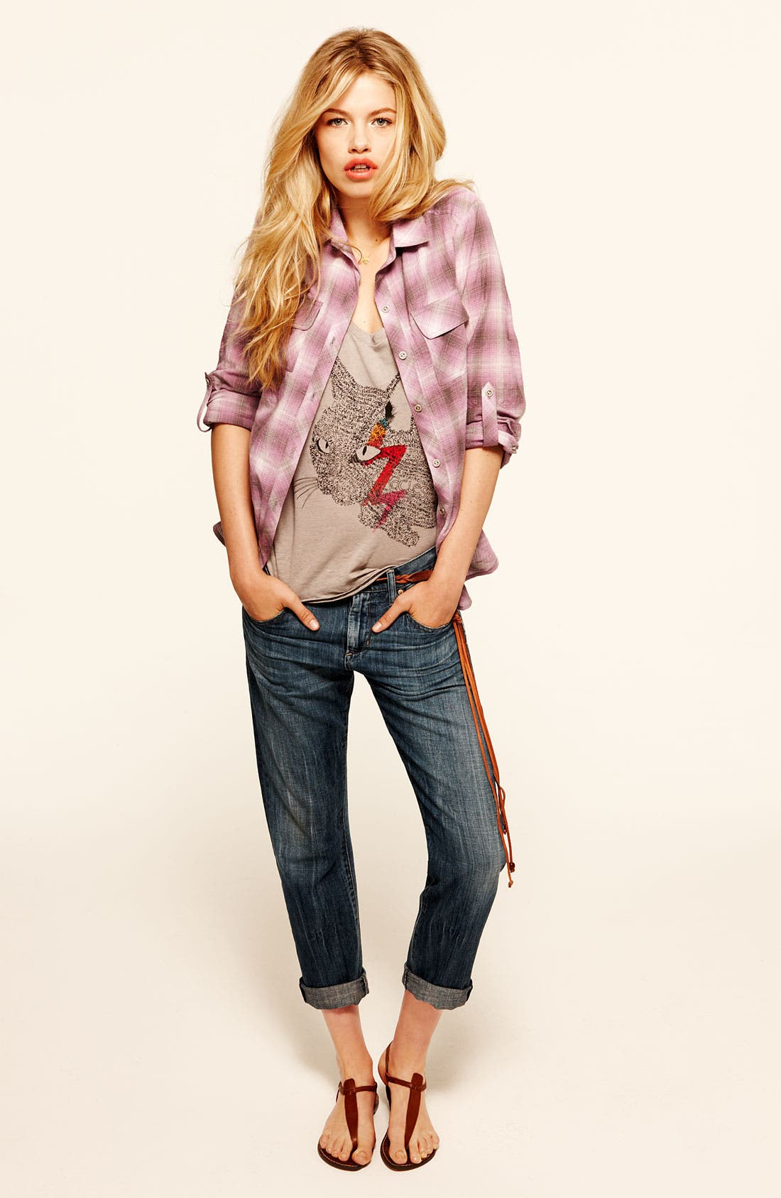 Alternate Image 4  - Citizens of Humanity 'Daisy' Crop Loose Fit Jeans (Plunge)