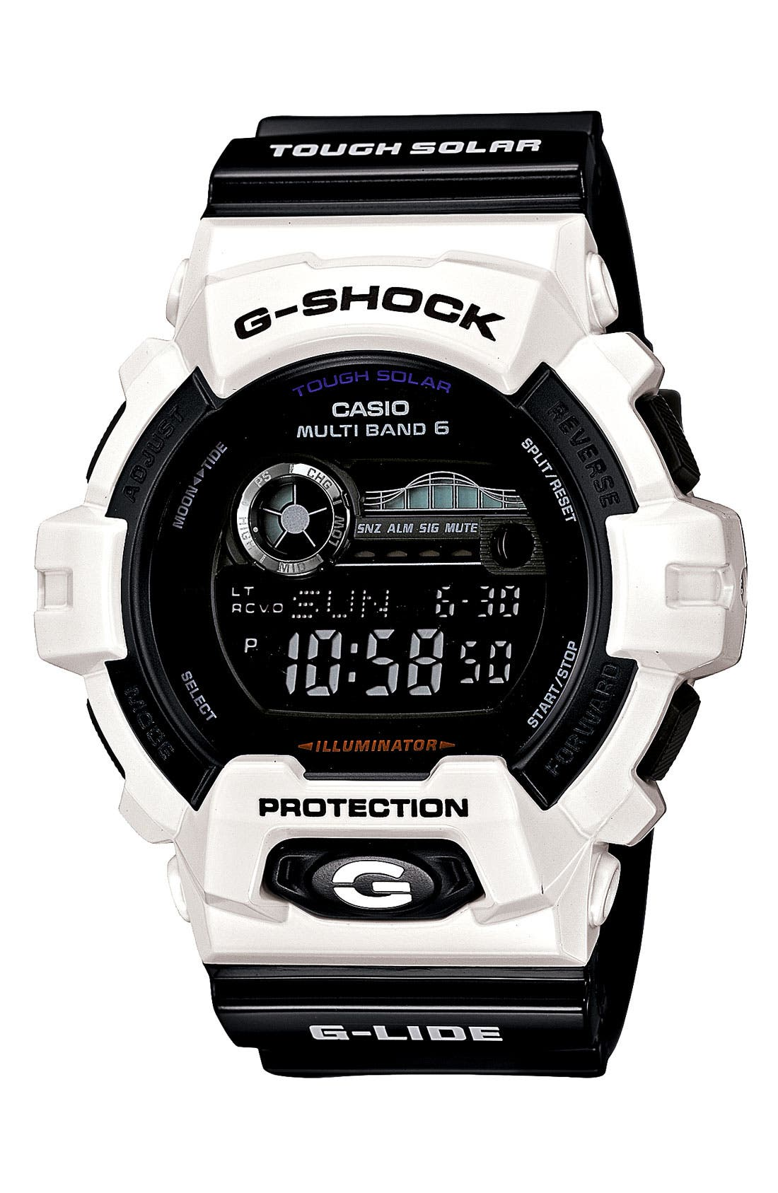 Alternate Image 1 Selected - G-Shock 'Tidegraph' Digital Watch, 55mm x 51mm