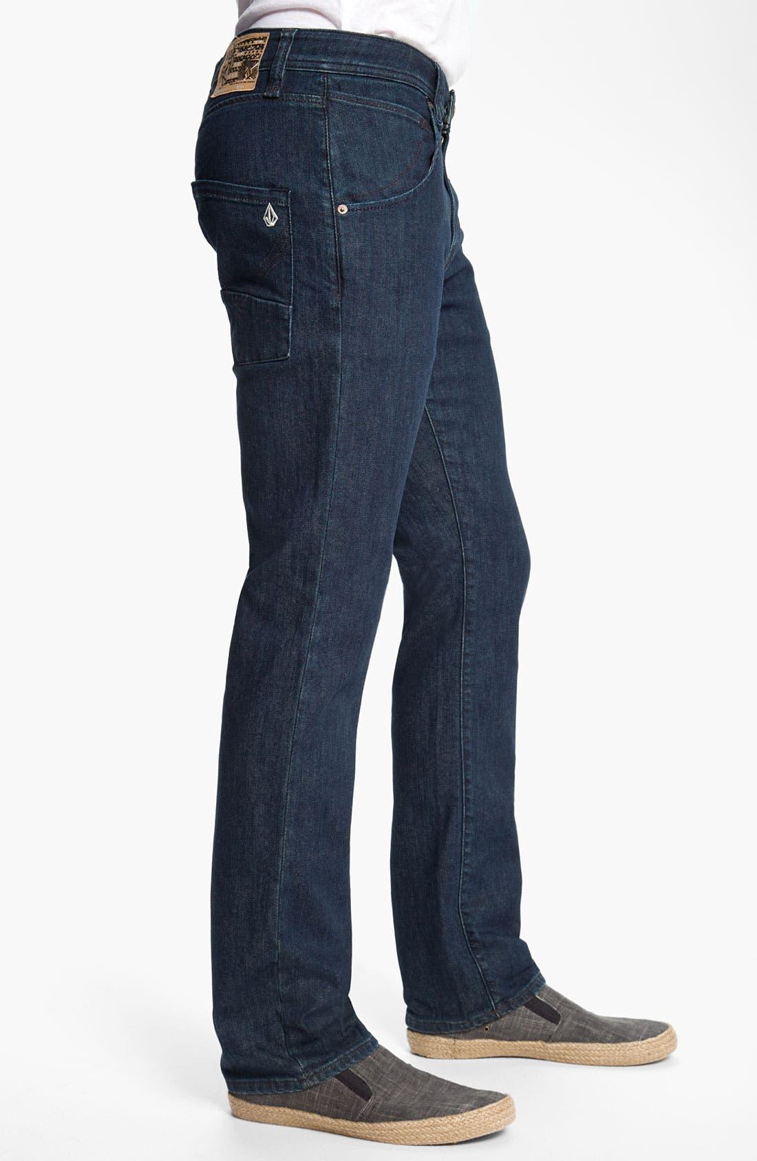 Alternate Image 3  - Volcom 'Nova' Slim Straight Leg Jeans (Los Tintos) (Online Only)