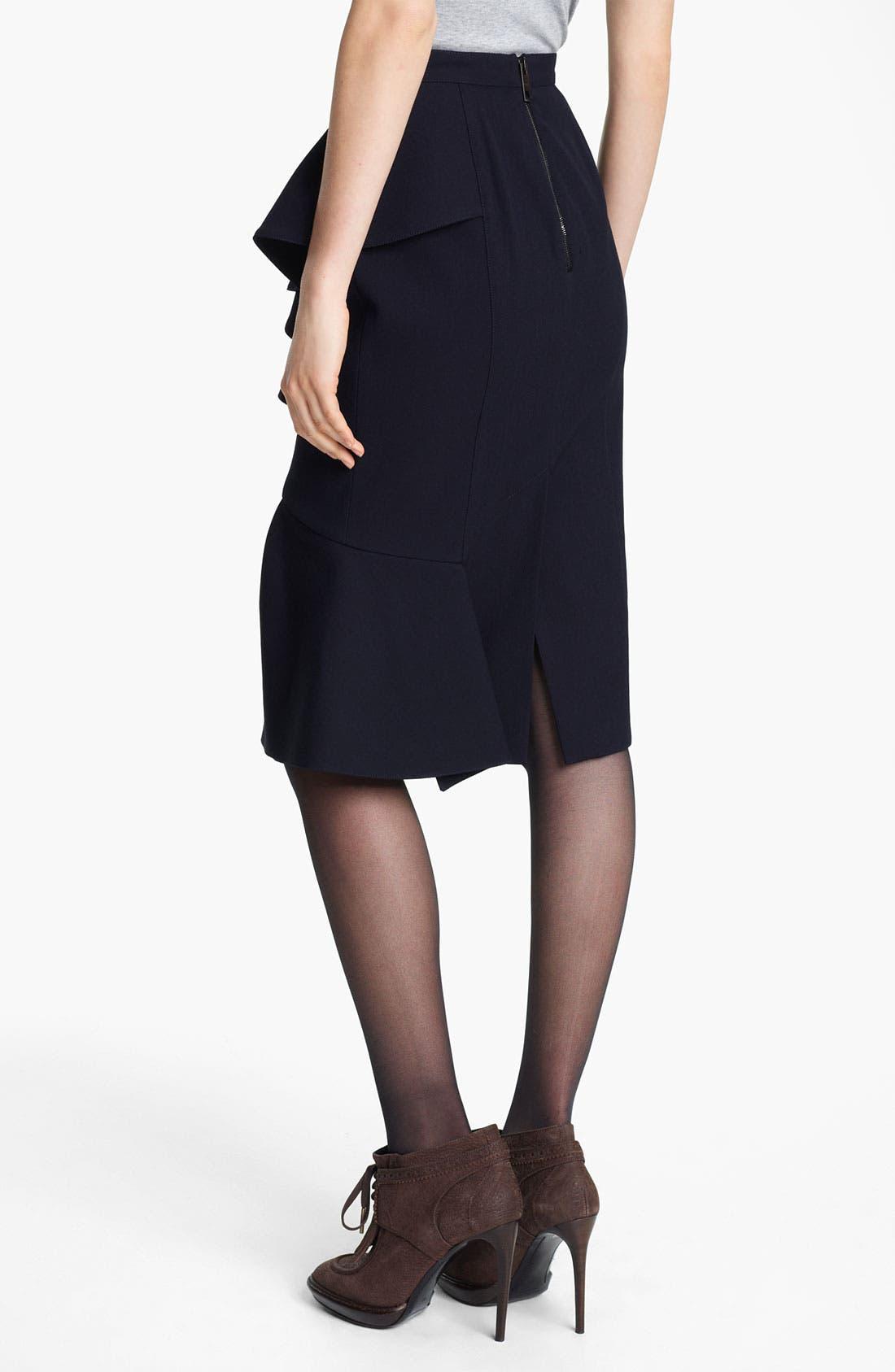 Alternate Image 2  - Burberry Prorsum Ruffled Skirt