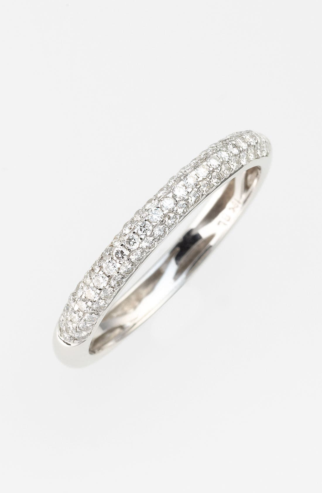 Main Image - Bony Levy Stackable Pavé Diamond Band Ring (Nordstrom Exclusive)