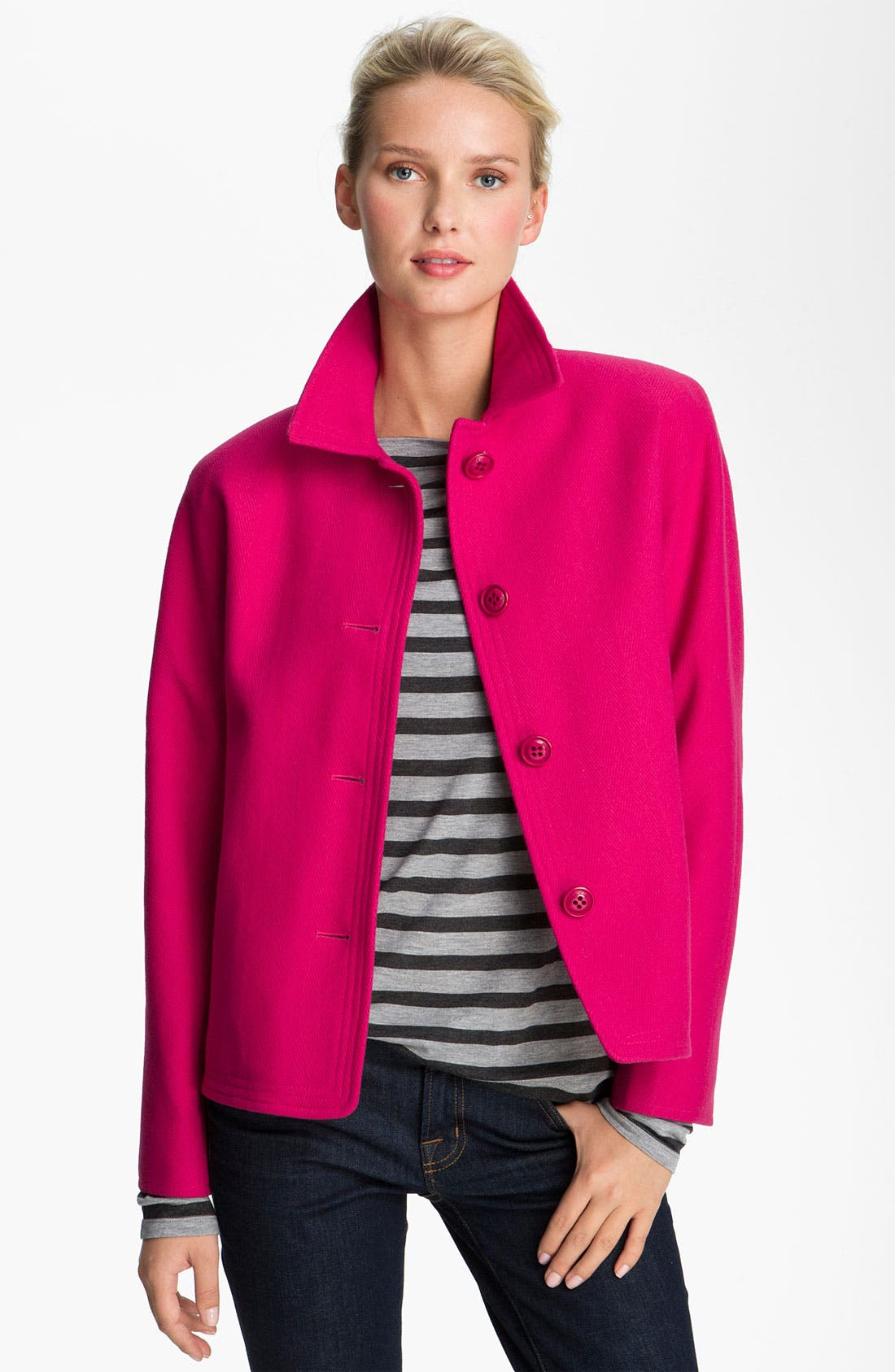 Alternate Image 1 Selected - DKNY Single Breasted Short Coat