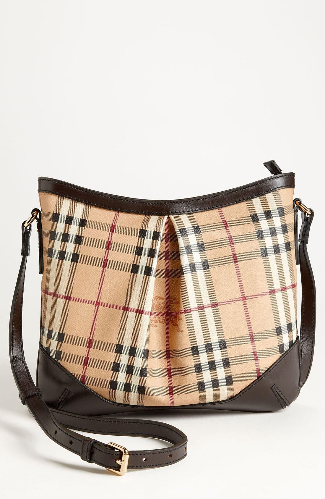 Main Image - Burberry 'Haymarket Check' Crossbody Bag