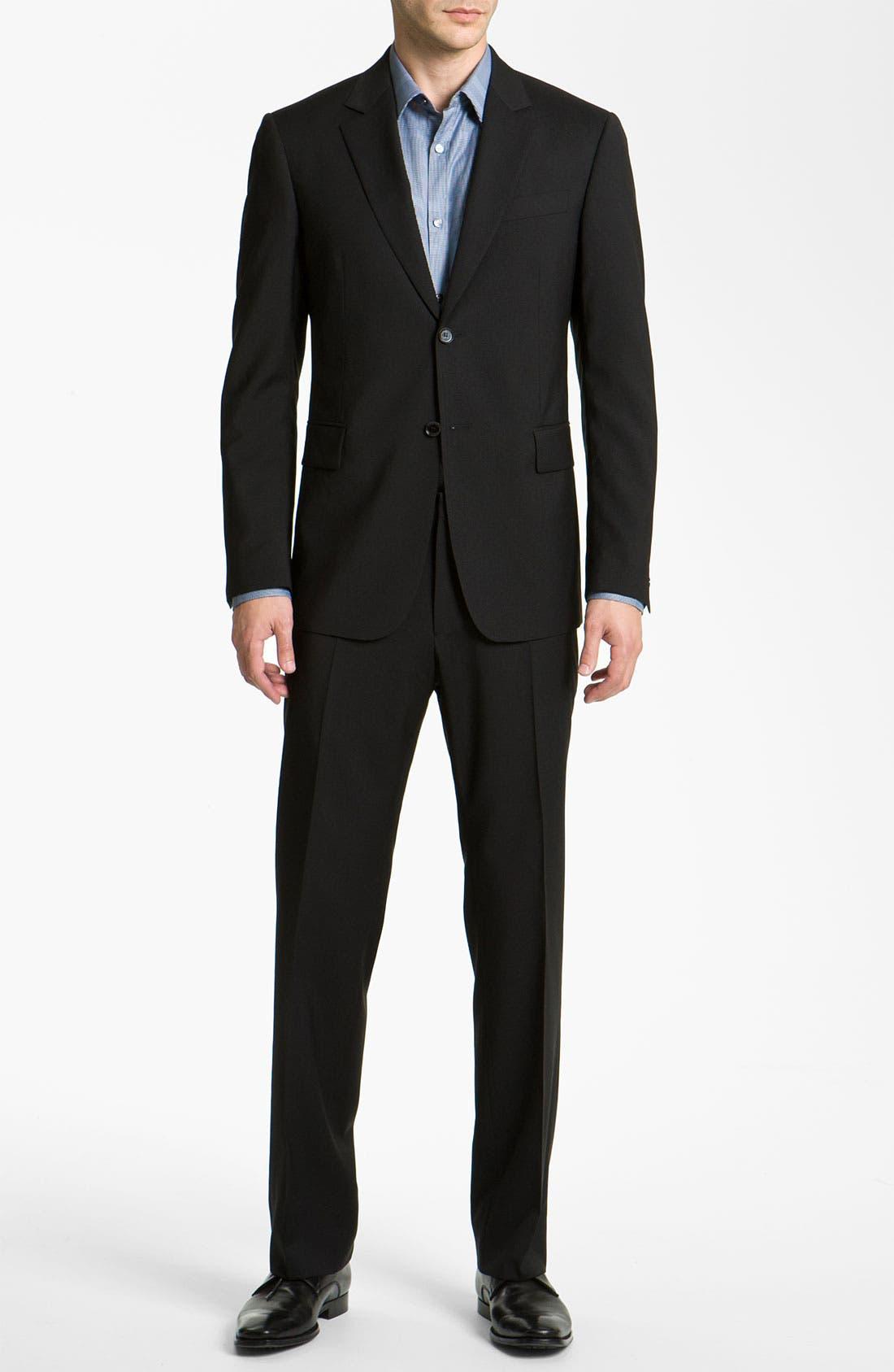 Alternate Image 2  - Burberry Trim Fit Wool Suit