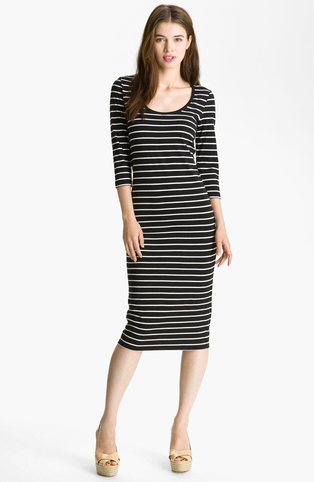 Alternate Image 1 Selected - French Connection Stripe Midi Cotton Dress
