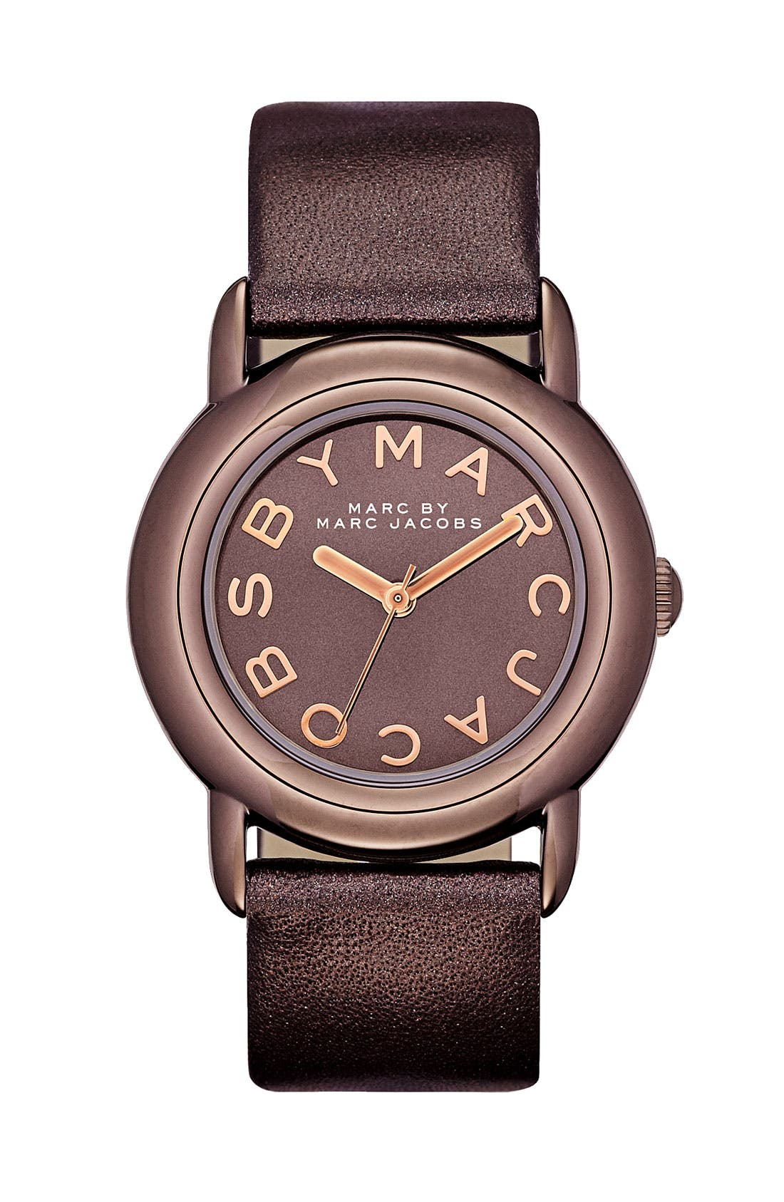 Alternate Image 1 Selected - MARC BY MARC JACOBS 'Marci' Leather Strap Watch, 33mm