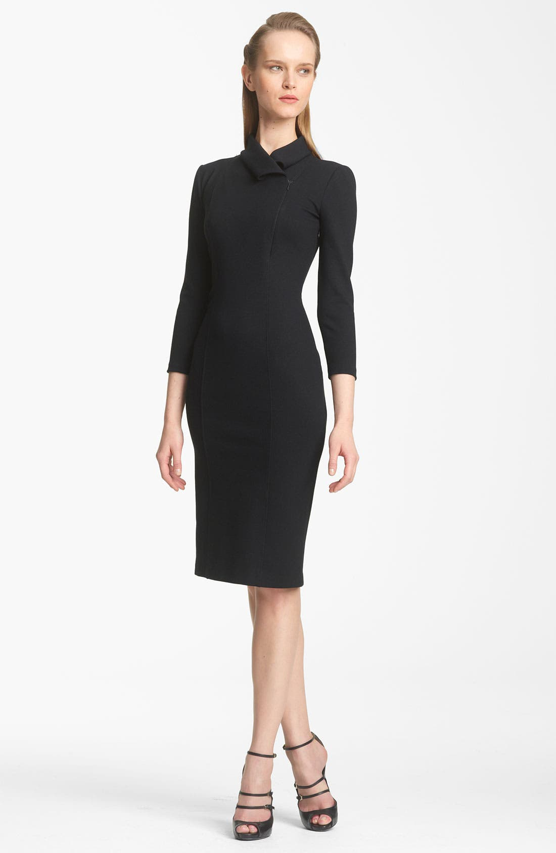 Main Image - Armani Collezioni Zip Detail Jersey Dress