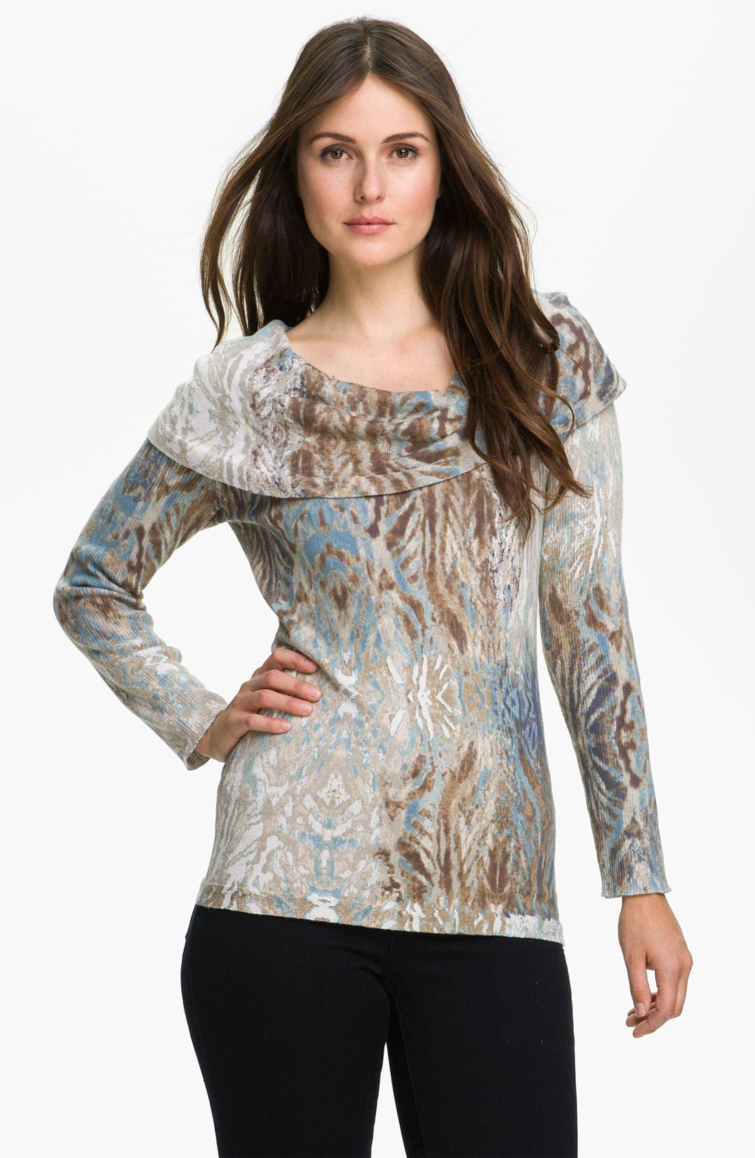 Alternate Image 1 Selected - Nic + Zoe 'Polaris' Print Sweater