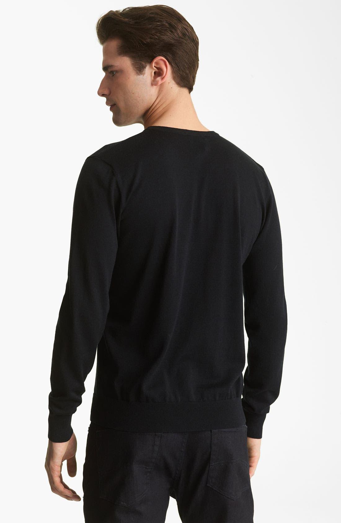 Alternate Image 2  - Armani Collezioni V-Neck Silk & Cotton Sweater