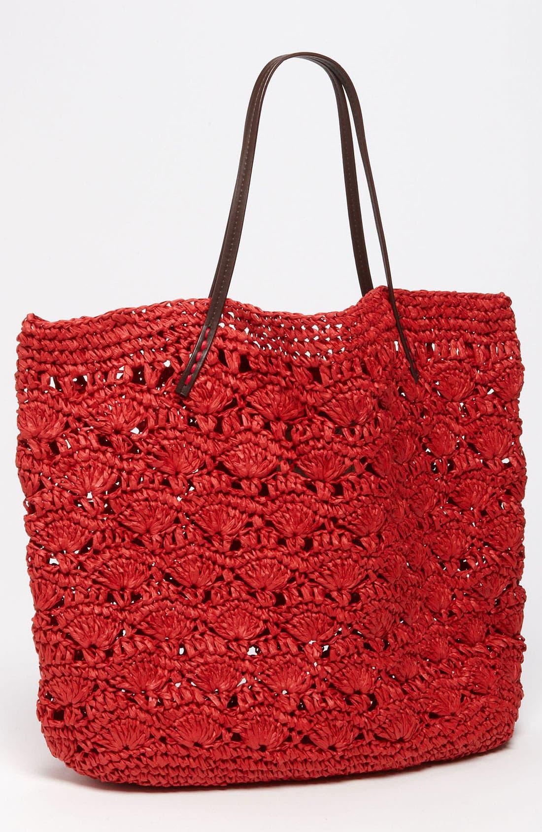 Main Image - Michael Stars Crochet Straw Tote