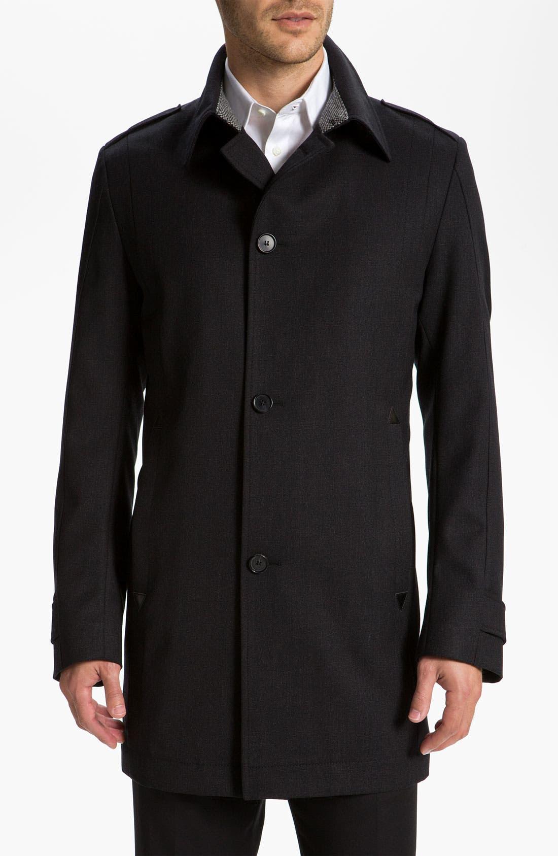 Alternate Image 1 Selected - BOSS Black 'Daze' Top Coat
