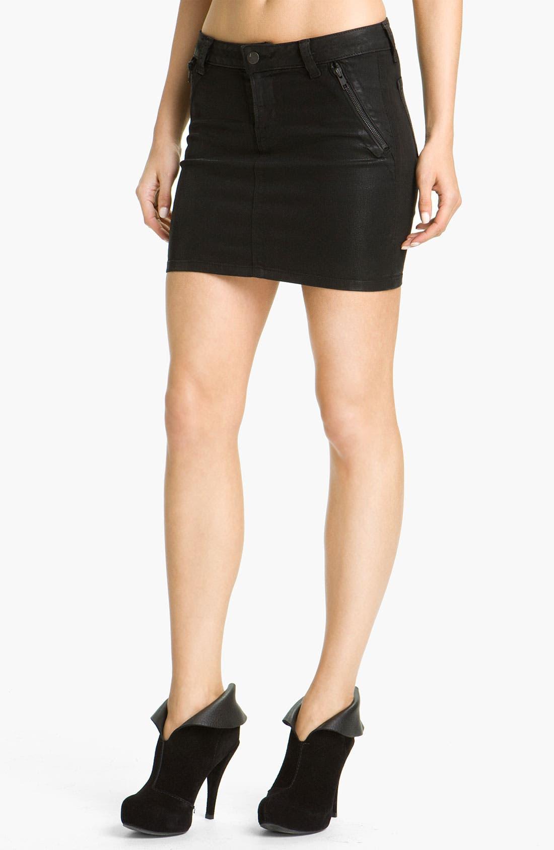 Main Image - J Brand 'Nikko' Coated Denim Skirt