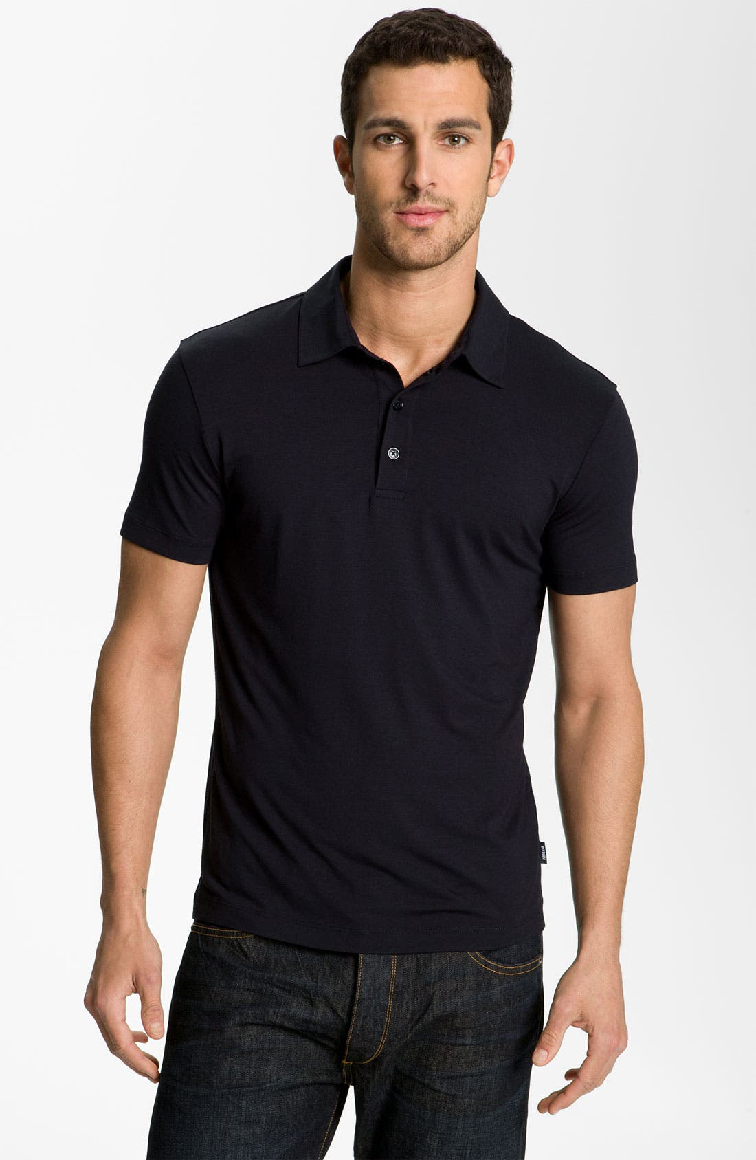 Alternate Image 1 Selected - Armani Collezioni Trim Fit Polo