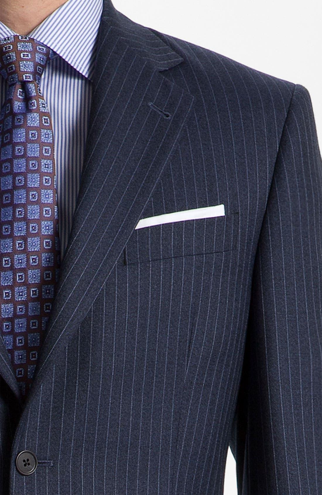 Alternate Image 6  - Joseph Abboud 'Signature Silver' Stripe Suit