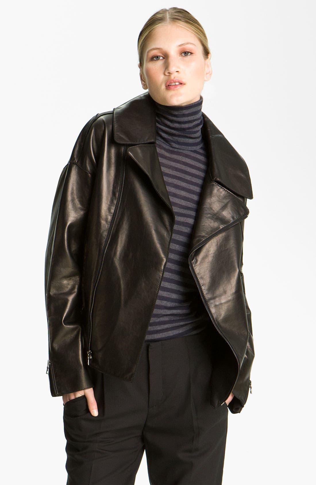 Alternate Image 1 Selected - Vince Leather Moto Jacket