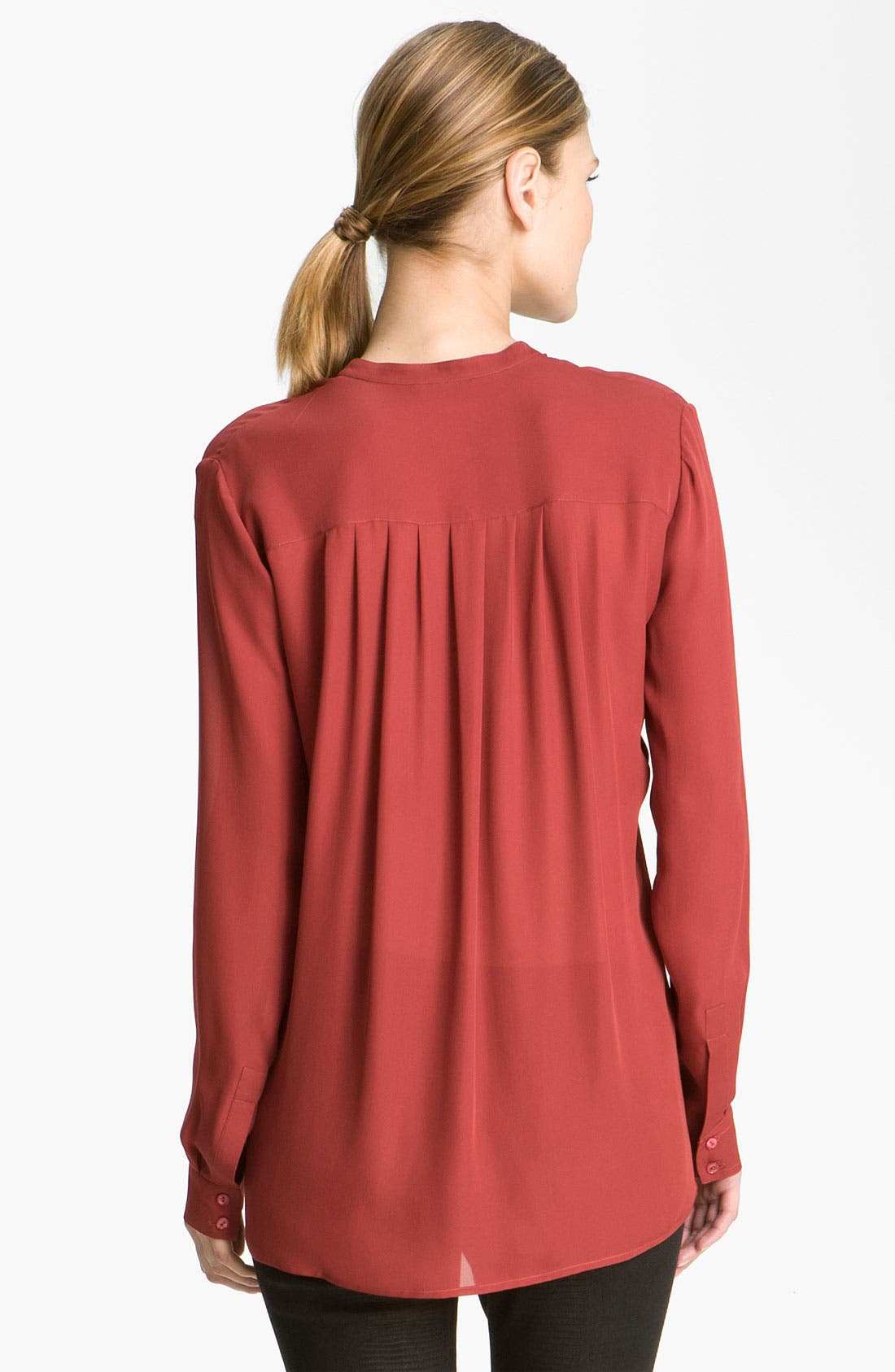 Alternate Image 2  - Vince Pleated Silk Blouse