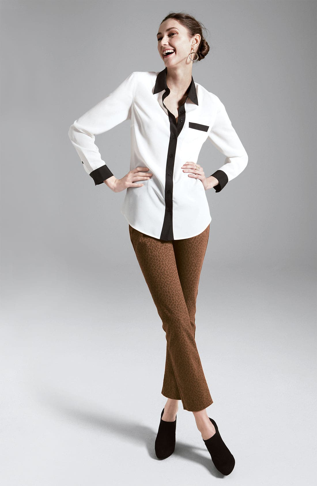 Alternate Image 4  - Nexx Contrast Trim Silk Blouse