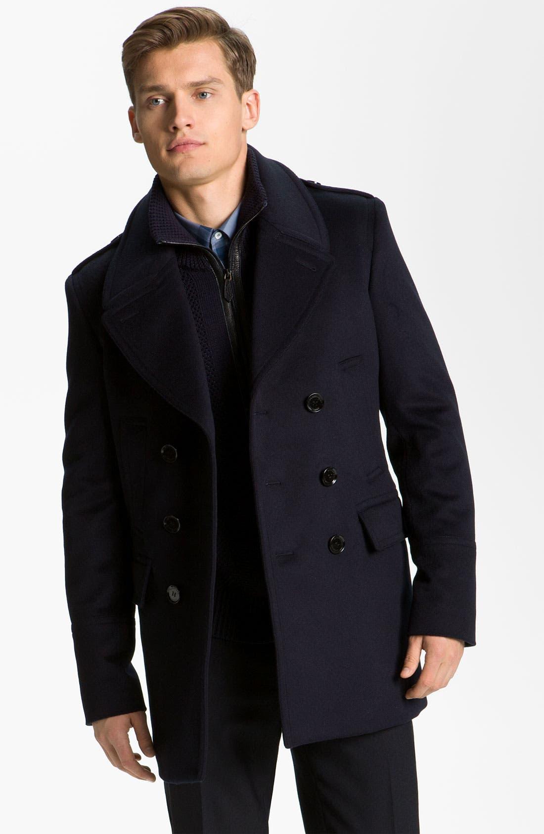 Burberry London Wool and Cashmere Peacoat | Nordstrom