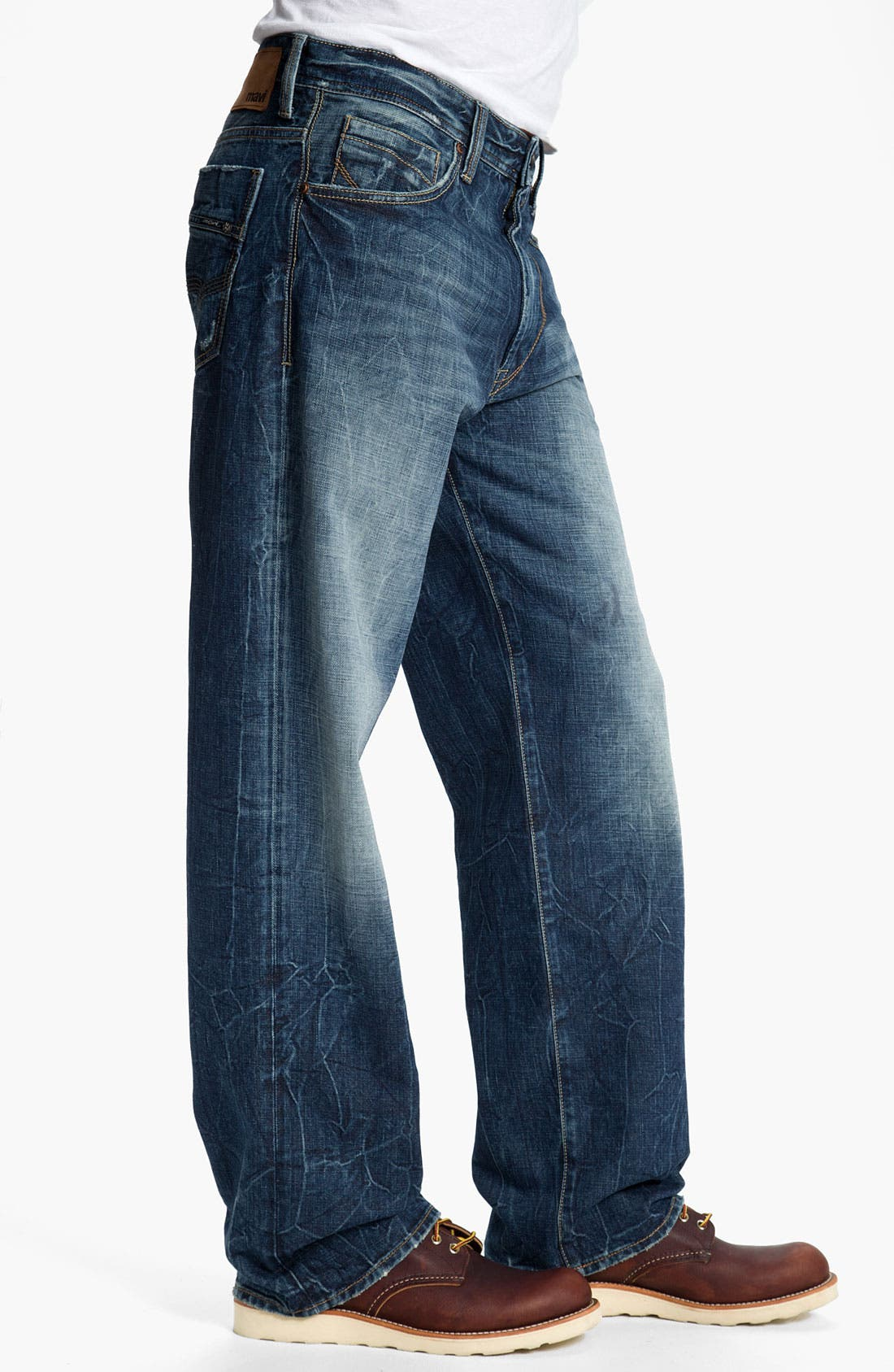 Alternate Image 3  - Mavi Jeans 'Max' Relaxed Straight Leg Jeans (Deep American Cashmere)