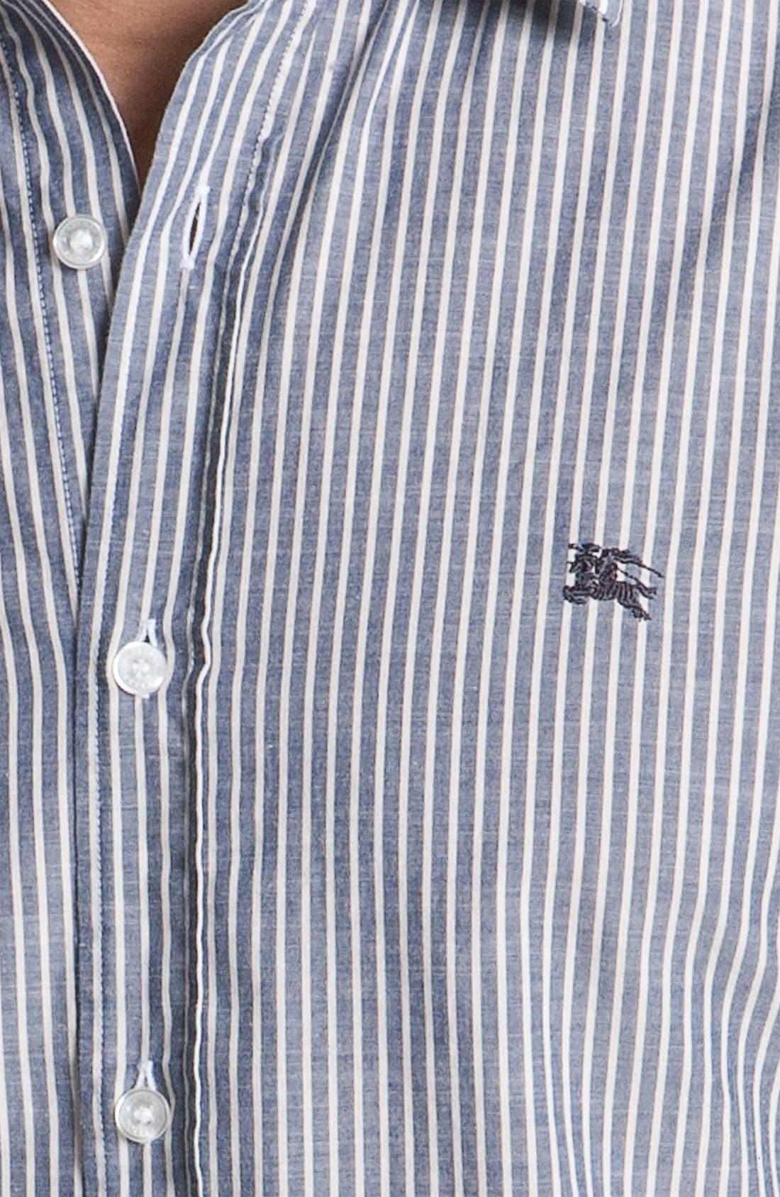 Alternate Image 3  - Burberry Brit Stripe Trim Fit Sport Shirt