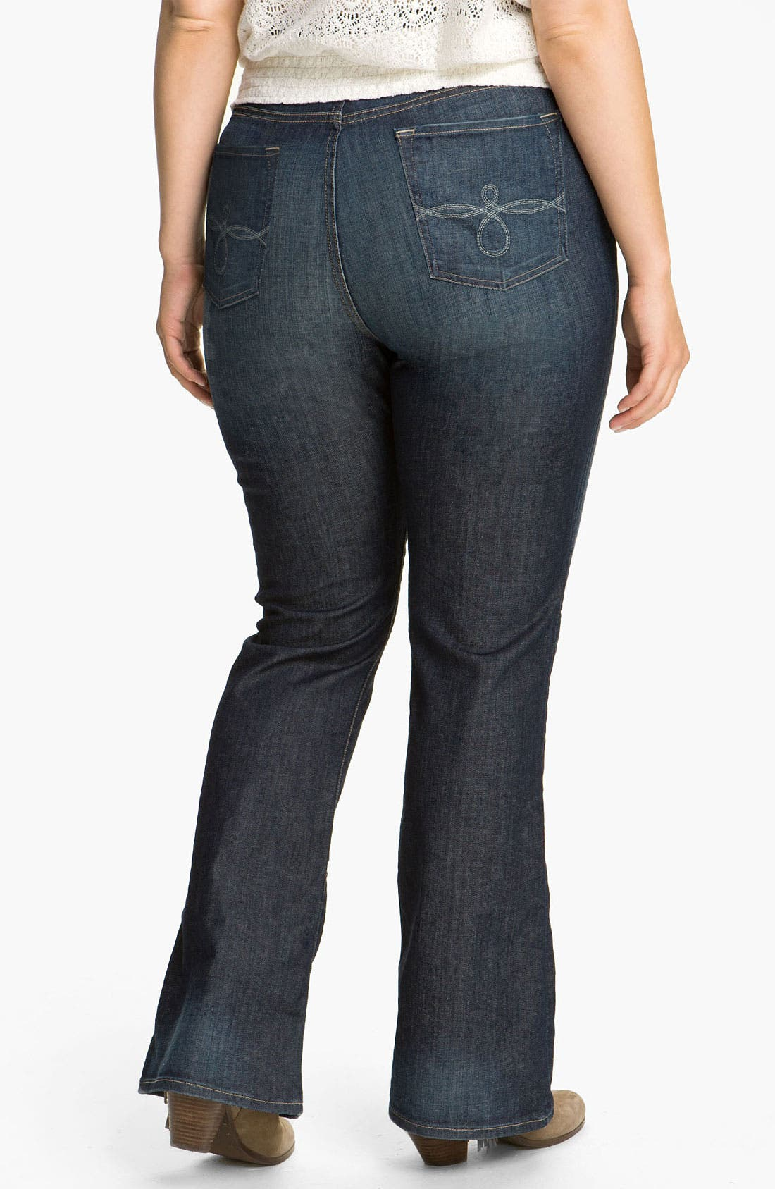 Alternate Image 2  - Lucky Brand 'Ginger' Bootcut Jeans (Plus)