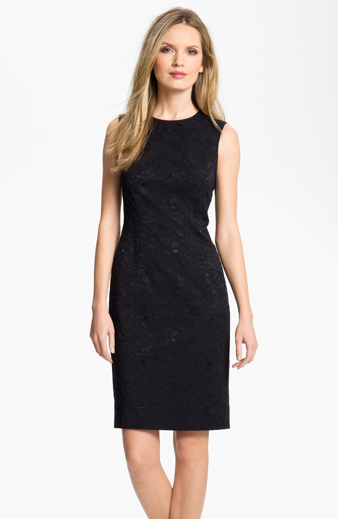 Alternate Image 1 Selected - Louben Lace Sheath Dress