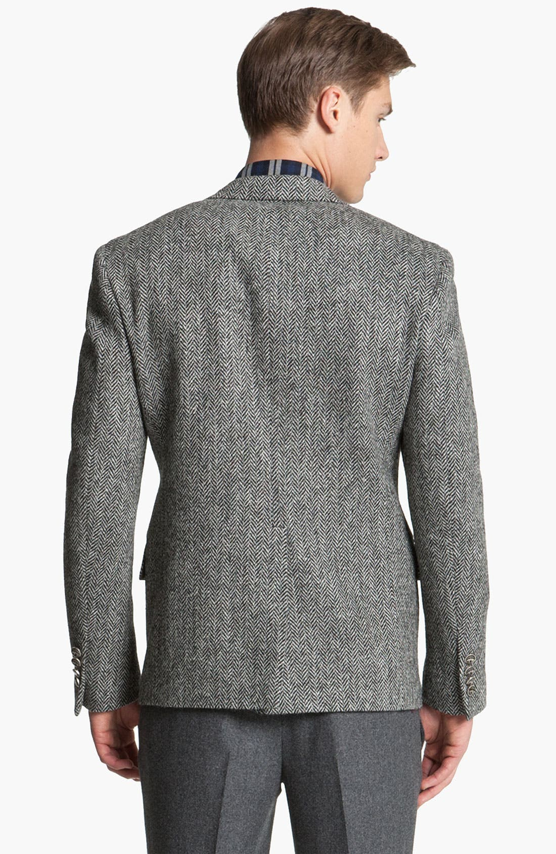 Alternate Image 2  - Brooks Brothers by Jeffrey Tweed Herringbone Blazer
