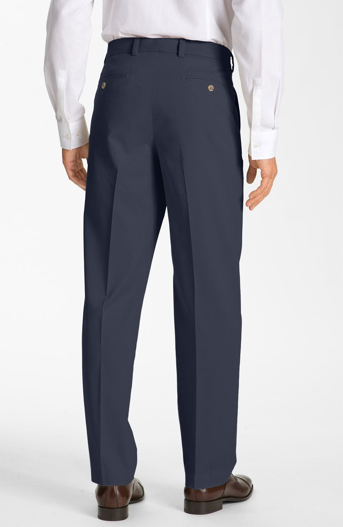 Alternate Image 2  - Nordstrom Smartcare™ Flat Front Chinos