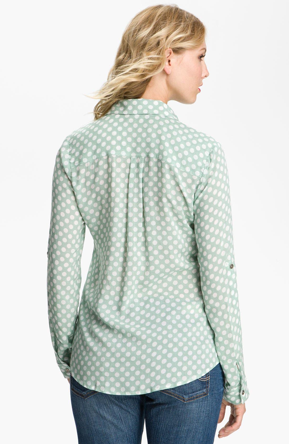Alternate Image 2  - Gibson Polka Dot Pocket Shirt