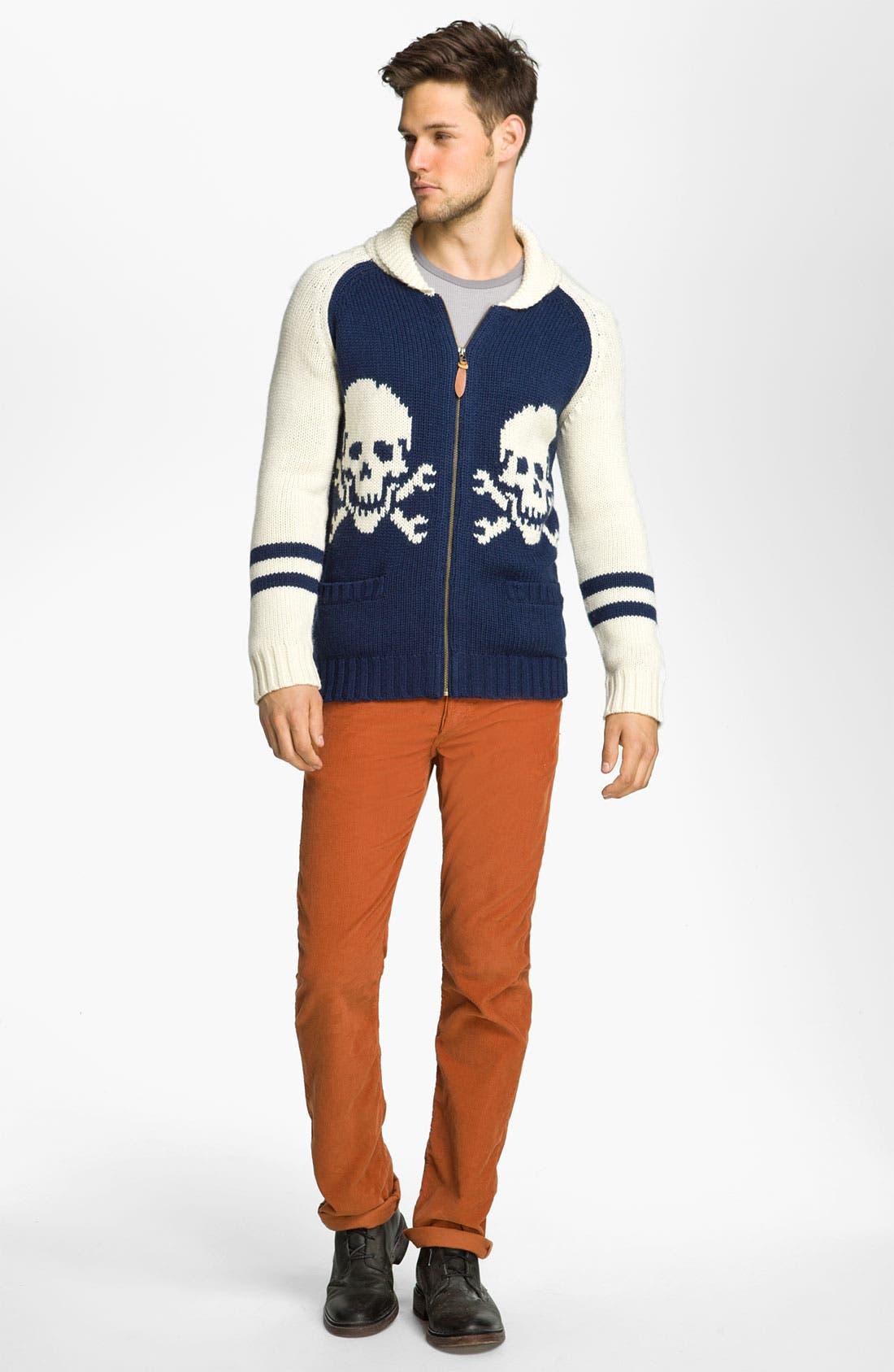 Alternate Image 4  - Deus Ex Machina 'Skulls' Shawl Collar Zip Sweater