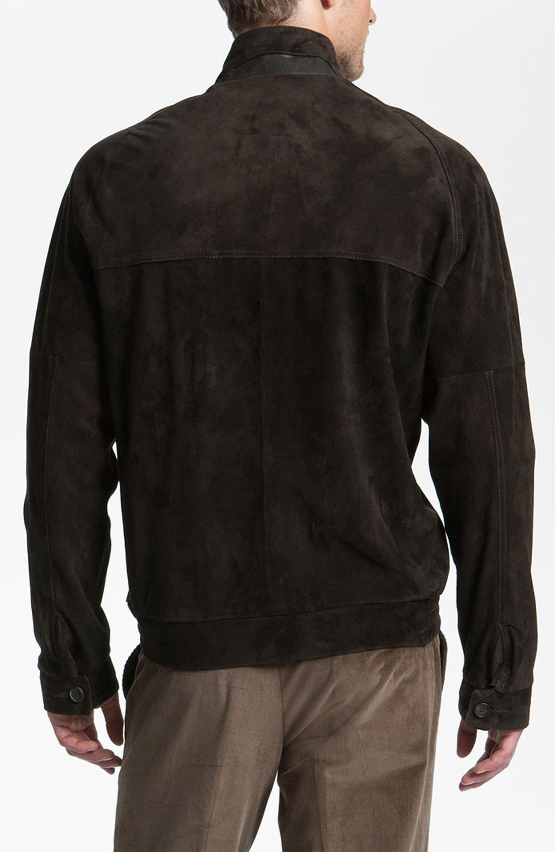 Alternate Image 2  - Remy Leather Calf Suede Barracuda Jacket