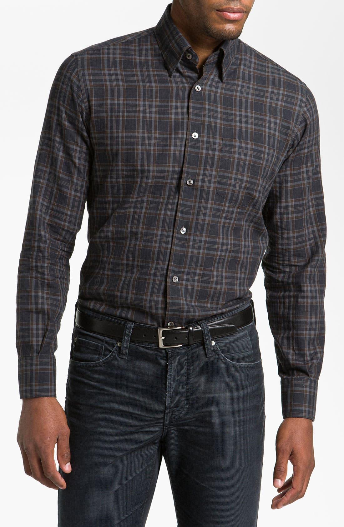 Main Image - Canali Regular Fit Sport Shirt