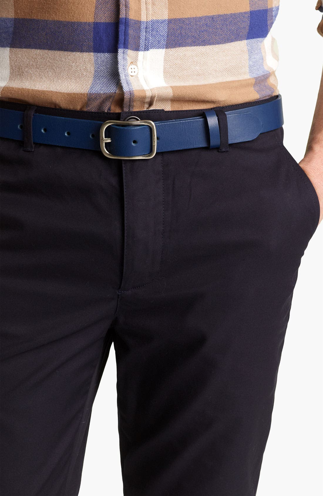 Alternate Image 1 Selected - Shipley & Halmos 'Cambridge' Leather Belt