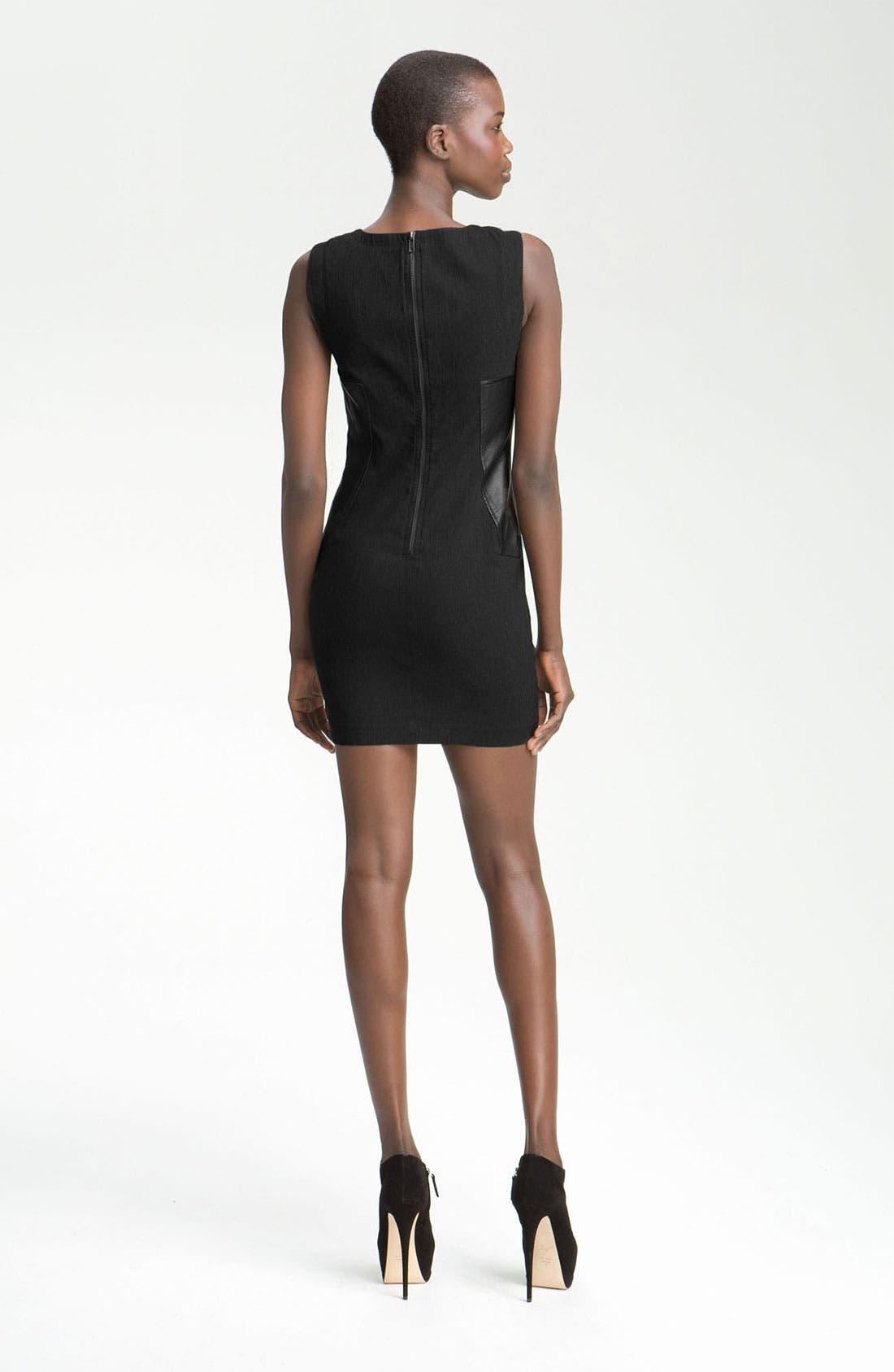 Alternate Image 2  - Cut25 Stretch Faille Panel Dress