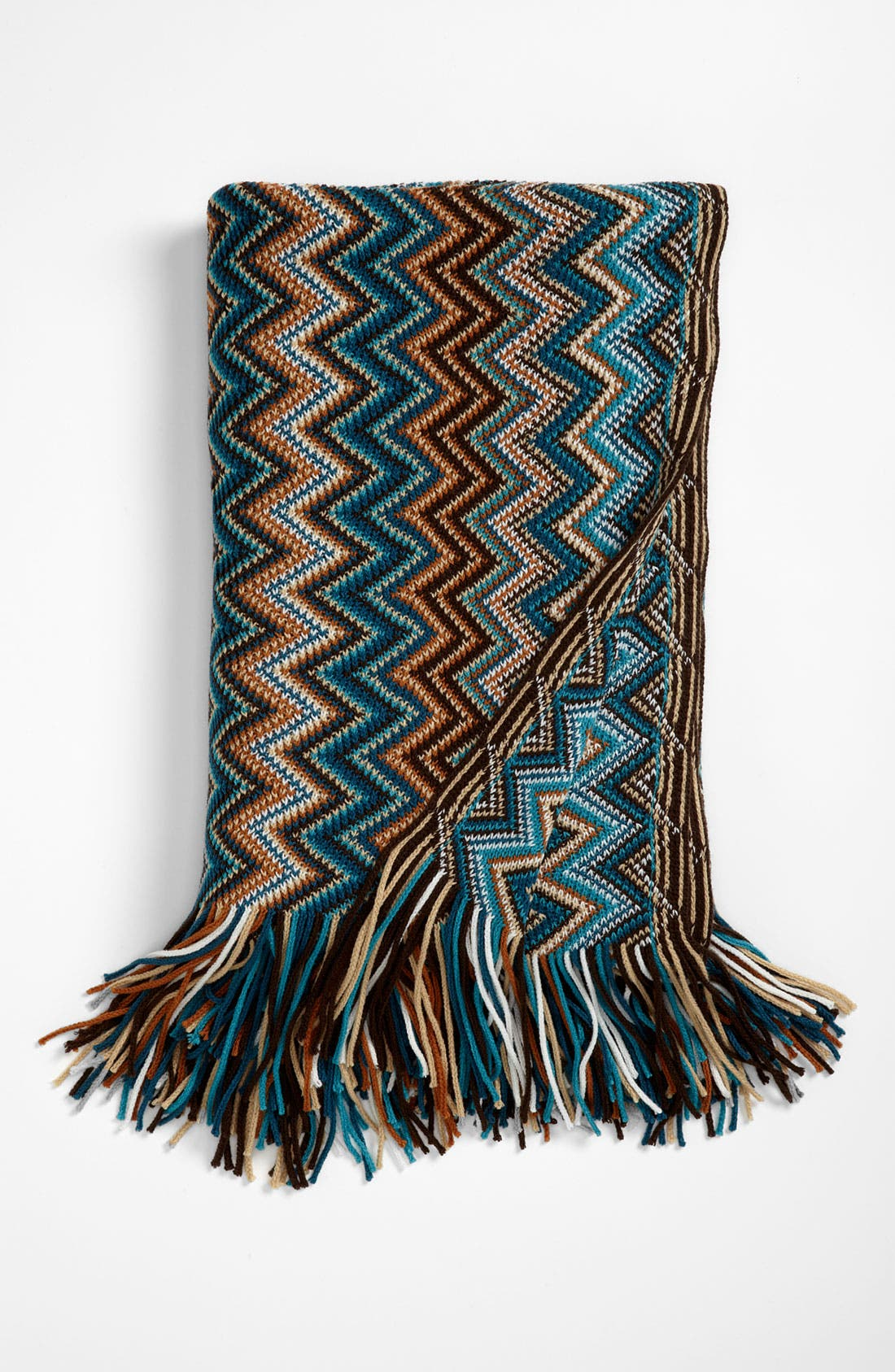 Main Image - Kennebunk Home 'Caitlin' Chevron Knit Throw