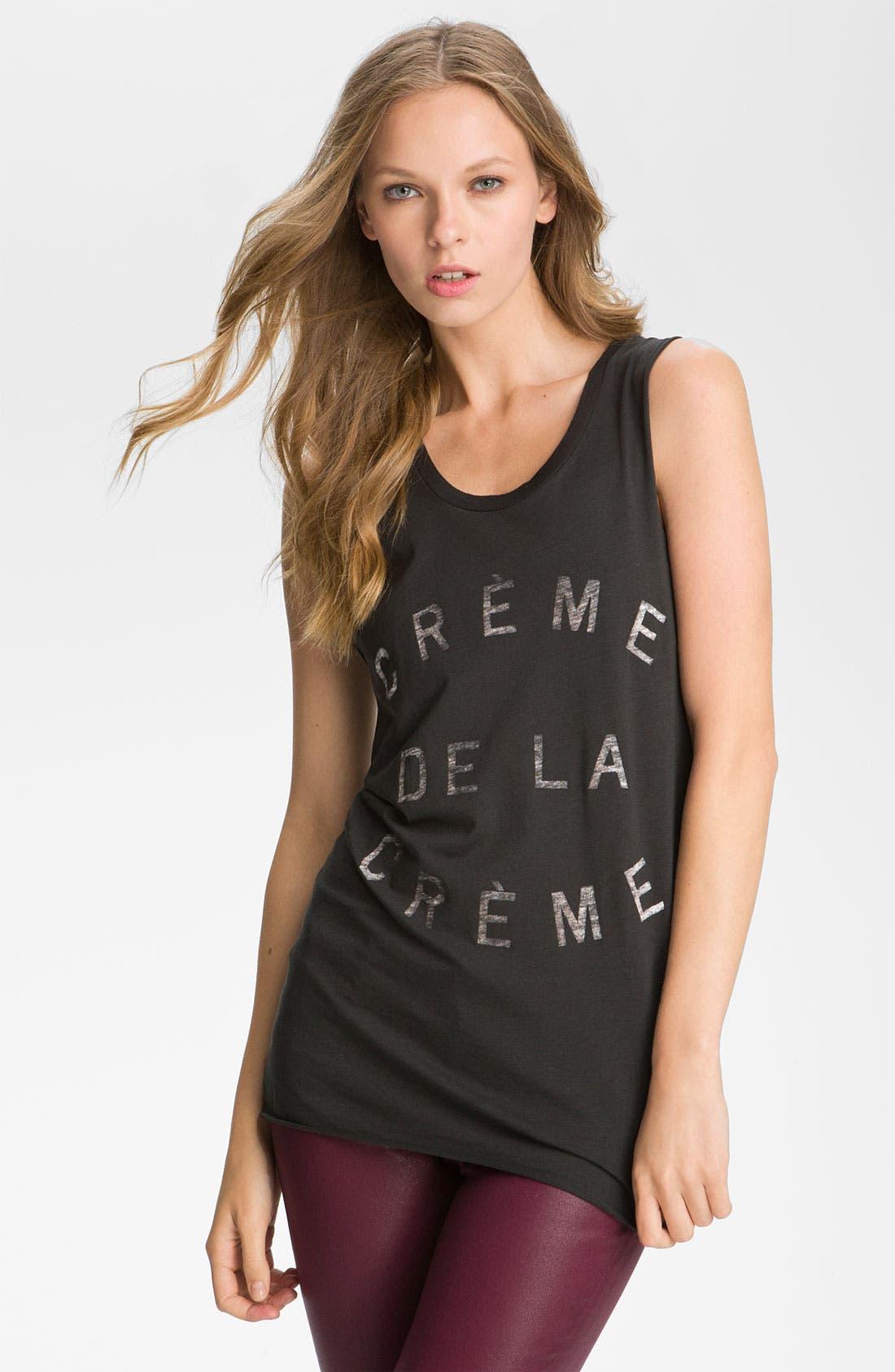 Main Image - Zoe Karssen 'Crème De La Crème' Graphic Tank