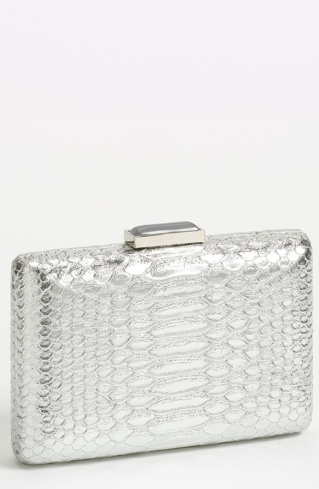 Main Image - Expressions NYC Snake Embossed Box Clutch