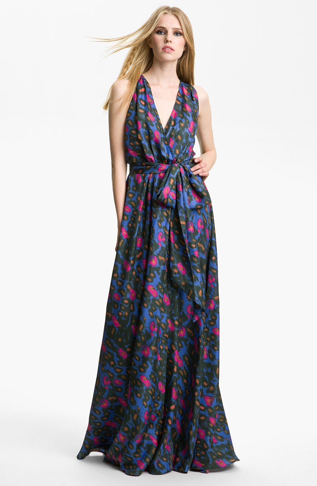 Alternate Image 1 Selected - Rachel Zoe 'Julianna' Print Silk Gown